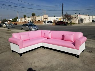 NEW 7X9FT PINK LEATHER COMBO SECTIONAL COUCHES for Sale in Los Angeles,  CA