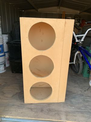 Speaker Box for car or truck (3-12's) for Sale in Winton, CA