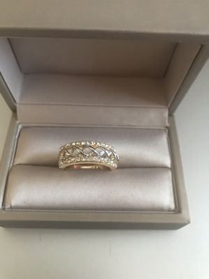 18K both yellow and white Gold plated Sz7 for Sale in Addison, IL