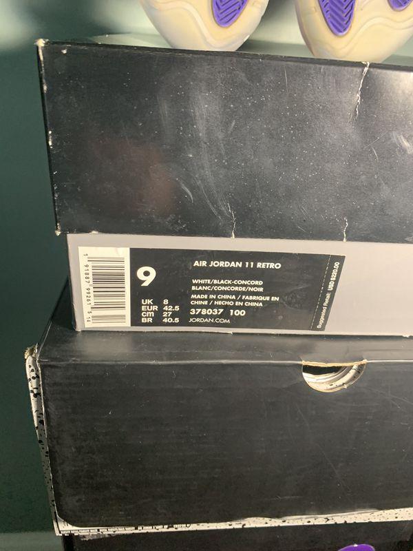 Jordan 11 concord 2018 size 9