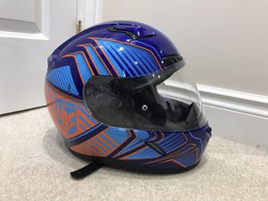 HJC CL-17 Snowmobile Helmet - Size M- Blue/Orange Multi - Redline Graphic for Sale in Pittsburgh, PA
