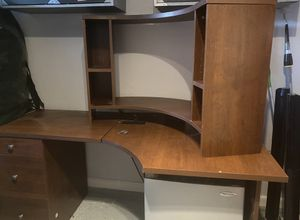 Wooden Desk with Lockable Storage for Sale in Bakersfield, CA