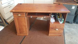Computer desk! Just cleaned my garage and need it gone ASAP! It has scratches and some parts are loose but can be fix with screws. Pick up only! for Sale in Tacoma, WA