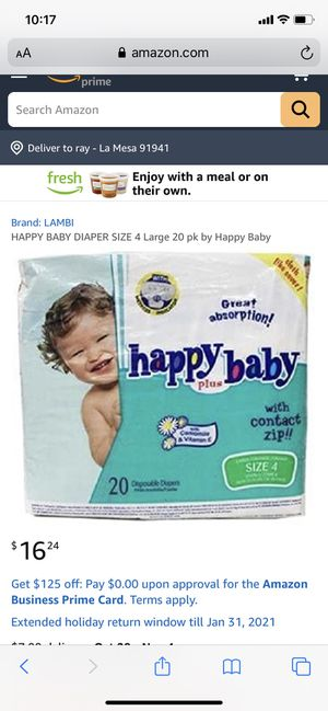 Baby diapers size 4 pack of 120 for Sale in La Mesa, CA