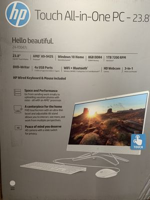 "HP 23.8"" Touchscreen All-in-One Desktop Computer for Sale in Spokane, WA"