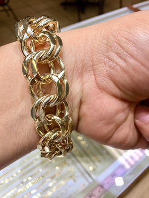 10 karat gold chino link bracelet no plate custom made (103g) ( item # M103) for Sale in Houston, TX