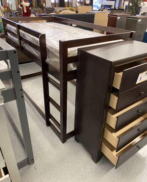 Furniture mattress- twin loft bed frame + mattress for Sale in Rio Linda, CA
