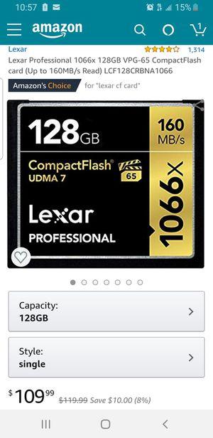 Lexar compact flash for Sale in Rosemead, CA