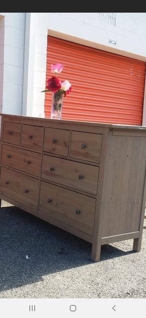 IKEA HEMNES DRESSER 8 DRAWER DRAWER SLIDING SMOOTHLY EXCELLENT CONDITION for Sale in Fairfax, VA