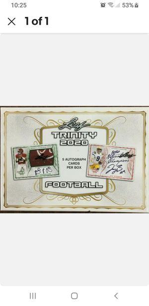 2020 LEAF TRINITY FOOTBALL HOBBY BOX - 5 AUTOGRAPHS PER BOX (TUA ?) for Sale in Palm Harbor, FL