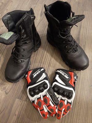 Motorcycle gear (helmet, boots, gloves) for Sale in Redmond, WA