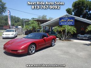 VERY CLEAN 2 OWNER NO ACCIDENT NO SMOKER FL 1999 CHEVY CORVETTE GLASS TARGA ROOF RED METALLIC AUTO 5.7L 111K MILES for Sale in Tampa, FL