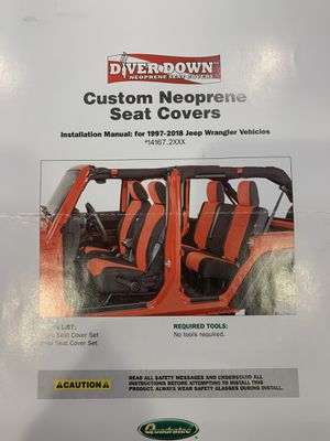 -NEW!-Neoprene seat covers (black/gray) to fit 1997-2018 Jeep Wrangler for Sale in BRUSHY FORK, WV