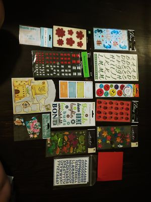 Scrapbooking sticker stickers lot fish dragons letters luau ladybugs stars leather flowers embellishments NEW rhinestones friends crafts for Sale in West Covina, CA