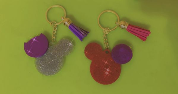 Personalized micky & Minnie Keychains
