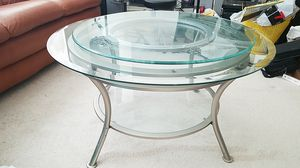 Glass table w/ removable spinning top for Sale in Elgin, IL