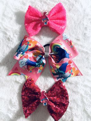 Poppy from Trolls bows all 3 for $10 for Sale in National City, CA