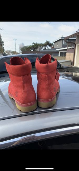 Timberland Boots Red Size 10.5M for Sale in Santa Monica, CA