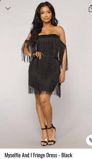 NEW FashionNova Black Fringe Dress SMALL for Sale in Lake Worth, FL