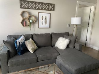 Charcoal Sofa with Reversible Chaise for Sale in Denver,  CO