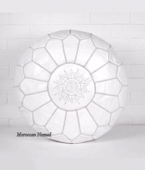 New Hand Made Moroccan Leather Poufs hassock ottoman - New for Sale in New York, NY