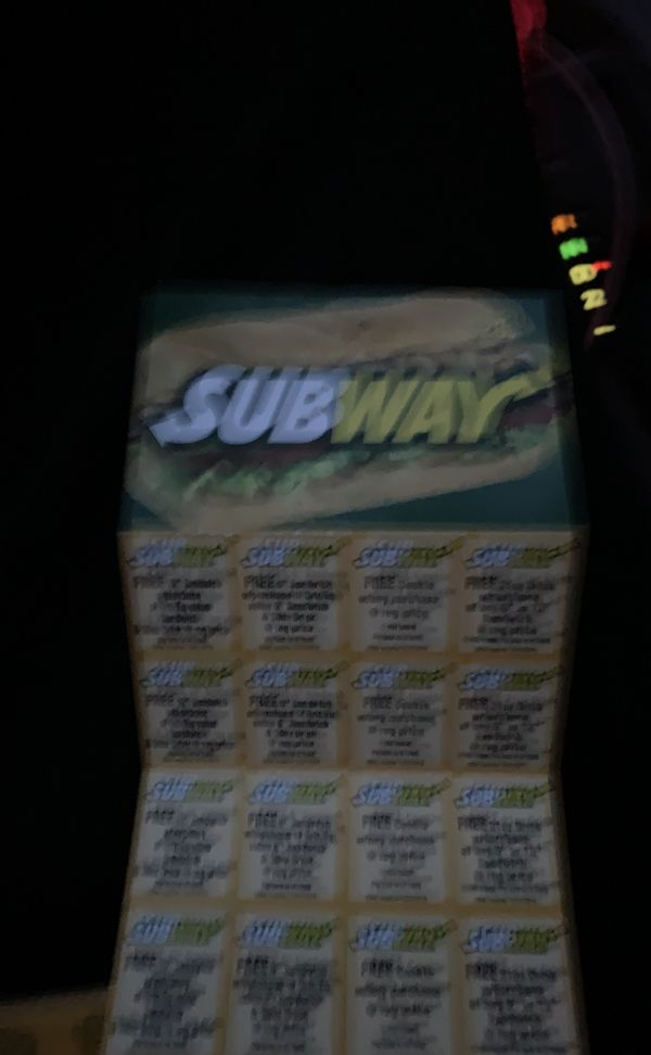 Lots of good subway deals only 20$