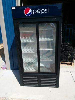 Used 2 door sliding door cooler for Sale in Le Roy, MI