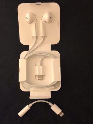 iPhone Lightning Earpod Headphones With 3.5mm Dongle 7 8 X for Sale in Phoenix, AZ
