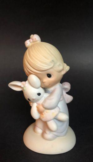 "Precious Moments/1978/""Jesus Loves Me""/Girl Holding Stuffed Bunny Rabbit/Jonathan and David/Vintage Enesco for Sale in San Antonio, TX"