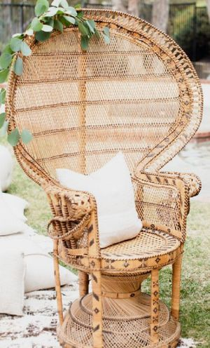 BOHO PEACOCK CHAIR . for Sale in Bakersfield, CA