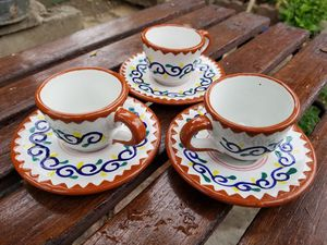 Mexican pottery- espresso coffee cups & saucers for Sale in Buena Park, CA