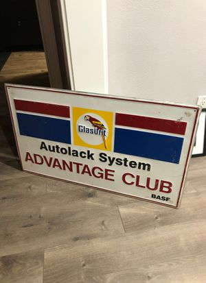 Glasurit Autolack System, paint metal sign for Sale in Pico Rivera, CA
