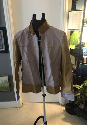 Leather jacket pink and camel for Sale in Washington, DC