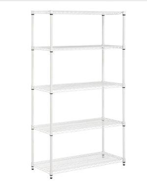 White 5 Tier Storage Shelf for Sale in Houston, TX