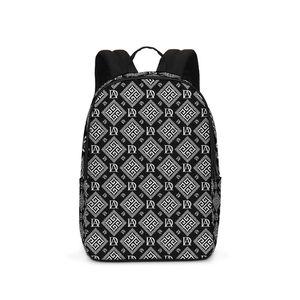 DeMarcus Alexan Black White Monogram Large Backpack for Sale in Alexandria, VA