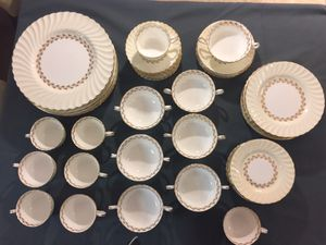 Vintage English 50 piece Minton Bone China - Gold Cheviot pattern for Sale in Sumner, WA