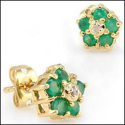 Gorgeous Diamonds Emerald Earings Easily Worth $600 for Sale in Stafford,  VA