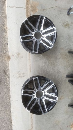 """(2) For Trailers Only - """"Altitude"""" wheels. 15x6 6-5.5 aluminum for Sale in Kennewick, WA"""