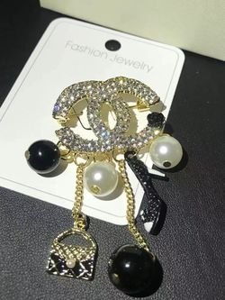 Black CC With Charms Brooch for Sale in Fremont,  CA