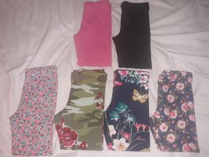 6 pairs girls leggings in 4/5T & 5T. for Sale in Schaumburg, IL