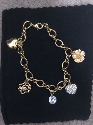 Gold plated charm bracelet for Sale in Washington, DC