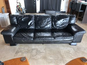2 leather couches for Sale in Denver, CO