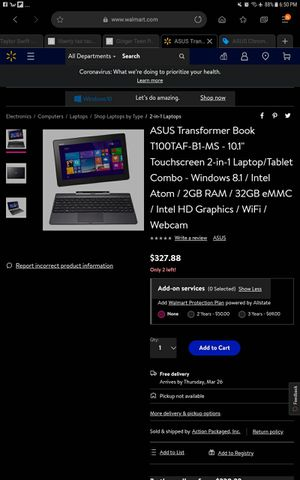 Asus 2 in 1 laptop for Sale in Tacoma, WA