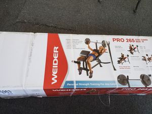 Weider Pro Bench press with 80lb weights 💪 for Sale in Chatsworth, CA