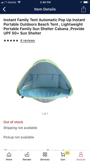 Used, Instant Family Tent Automatic pop up, instant portable outdoor beach, lightweight portable family sun shelter Cabana for Sale for sale  Los Angeles, CA