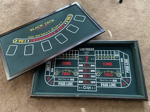 Table Top Black Jack and Craps Games. for Sale in Albuquerque, NM