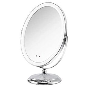 Lighted Makeup Mirror with Motion Sensor On/Off, Rechargeable Double-Sided 1x Vanity Mirror with Light for Sale in Garland, TX