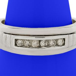 8090 DIAMOND RING MENS 0.18ct 14k GOLD WEDDING BAND GRAMS for Sale in Costa Mesa, CA