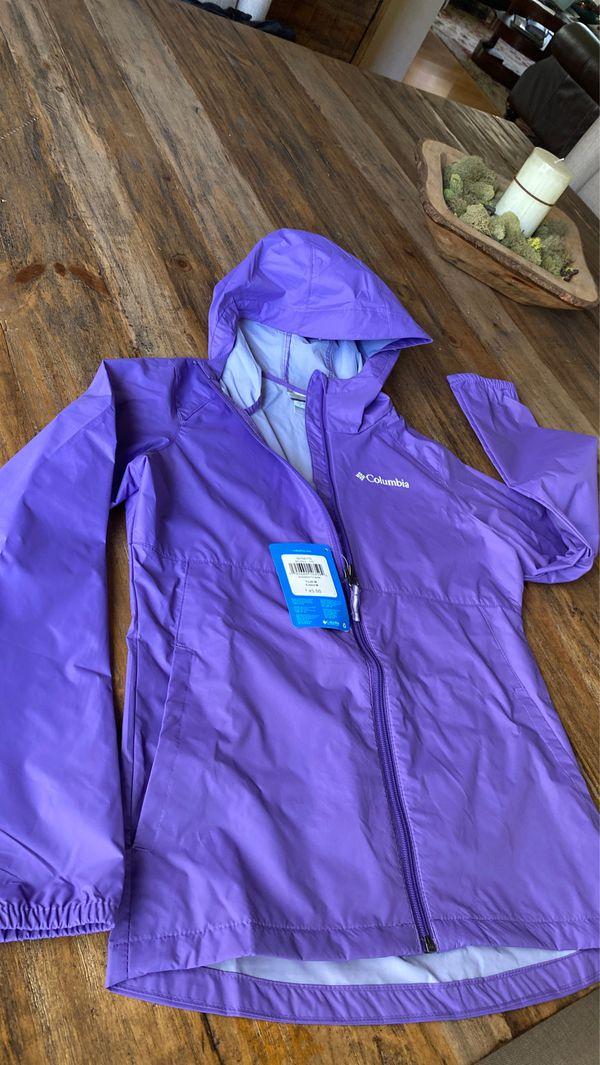Brand new with tags Girls sz 10 Columbia rain jacket
