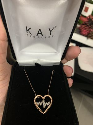 10k rose gold Kay jewelers necklace for Sale in Mount Vernon, NY